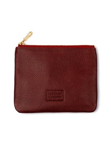 Leather & Paper Deri Mini Çanta Bordo